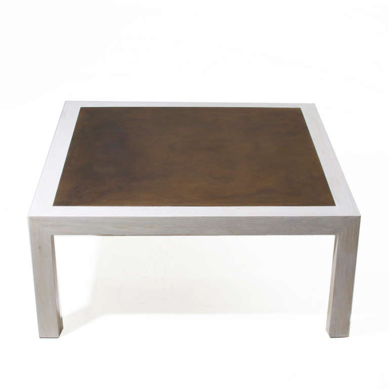 Harry lunstead bronze and bleached oak coffee table for for Dining table harry styles
