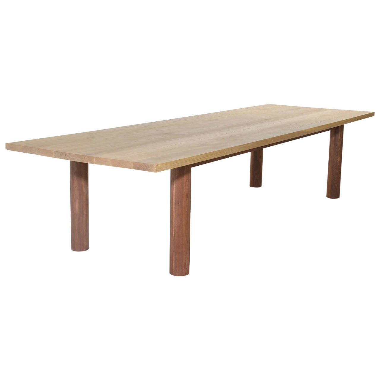 Oak Dining Table with Walnut Base By Thomas Hayes Studio  : 1618272l from www.1stdibs.com size 1280 x 1280 jpeg 40kB
