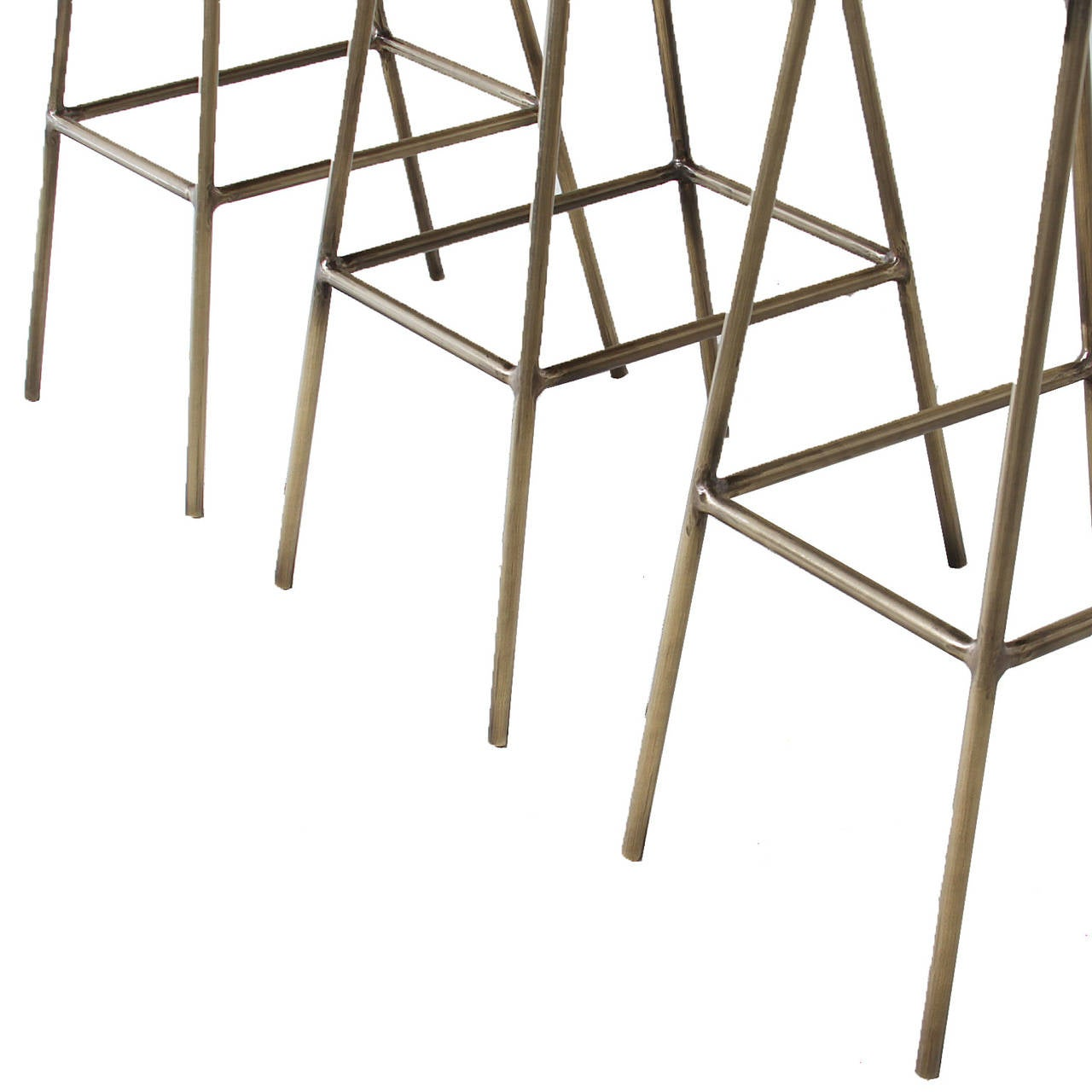 Brass Petra Bar Stool by Thomas Hayes Gallery For Sale 4