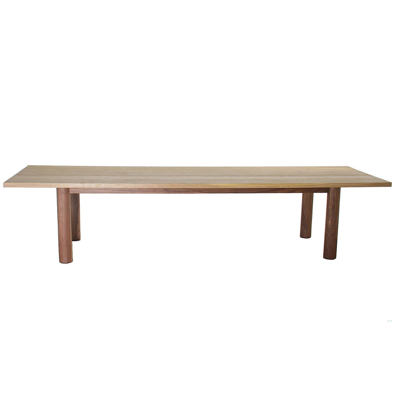 Oak Dining Table with Walnut Base By Thomas Hayes Studio  : 4l from www.1stdibs.com size 1280 x 1280 jpeg 32kB