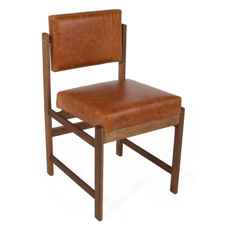 pivot back dining chair in solid walnut in pure oil finish at 1stdibs