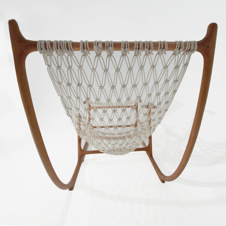 Rare 1970s American Craft Hammock Chair by William C. Leete. 4
