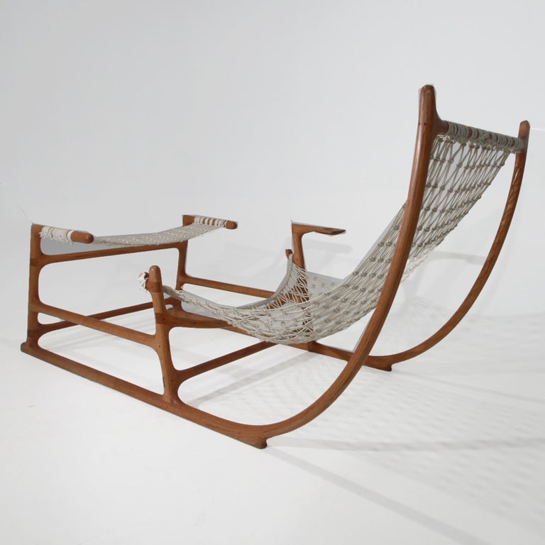 Rare 1970s American Craft Hammock Chair by William C