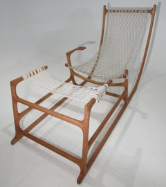 Rare 1970s American Craft Hammock Chair by William C. Leete.