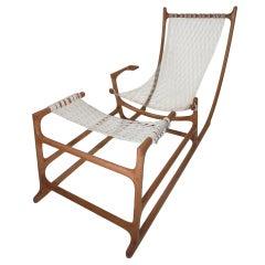 Rare 1970s American Craft Hammock Chair by William C. Leete.