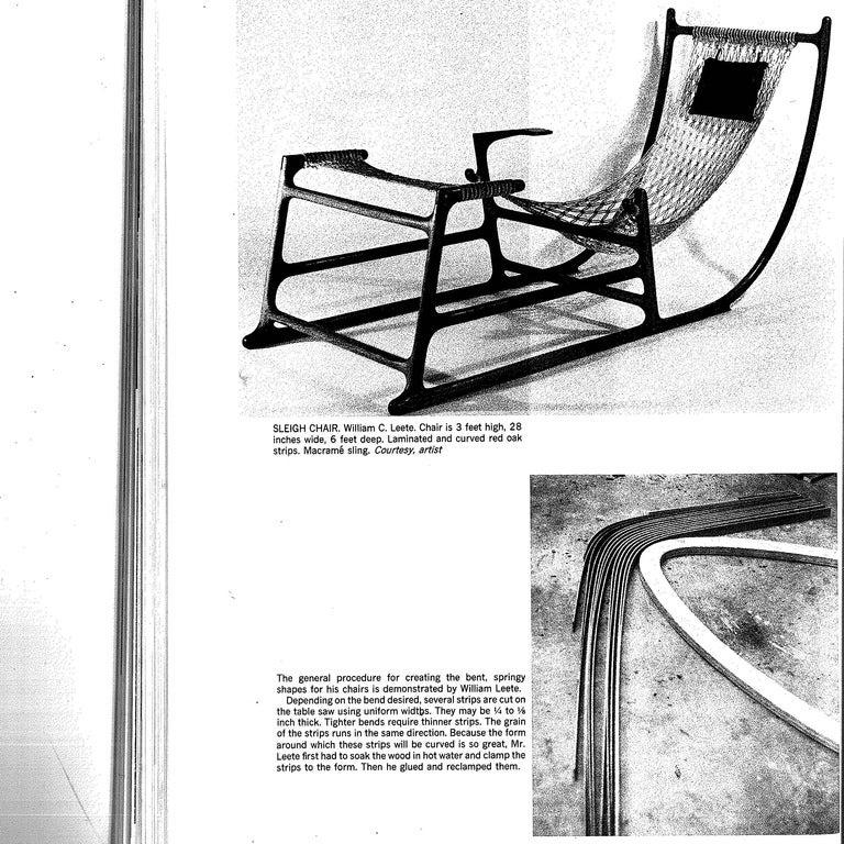 Rare 1970s American Craft Hammock Chair by William C. Leete. 6