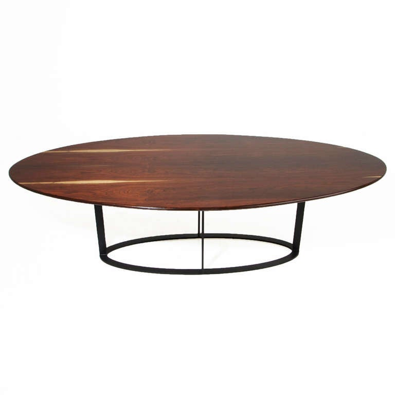 Oval Rosewood Dining Table with Black Steel Base at 1stdibs : coyler2l from www.1stdibs.com size 768 x 768 jpeg 19kB