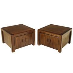 Mid-Century Modern Solid Oak California Craftsman End Tables