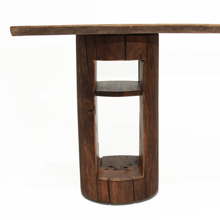Live Edge Solid Slab Of Tamboril Coffee Table By Tunico T: Live Edge Solid Ipe Desk By Tunico T For Sale At 1stdibs