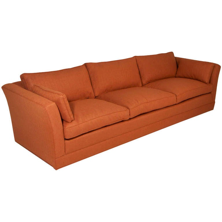 Comfortable Vintage Sofa With Down Filled Cushions In The Manner Of Dunbar At 1stdibs
