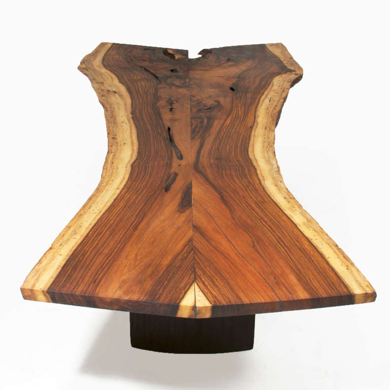 Live Edge Solid Slab Of Tamboril Coffee Table By Tunico T: Solid Brazilian Rosewood Slab Coffee Table By Thomas Hayes