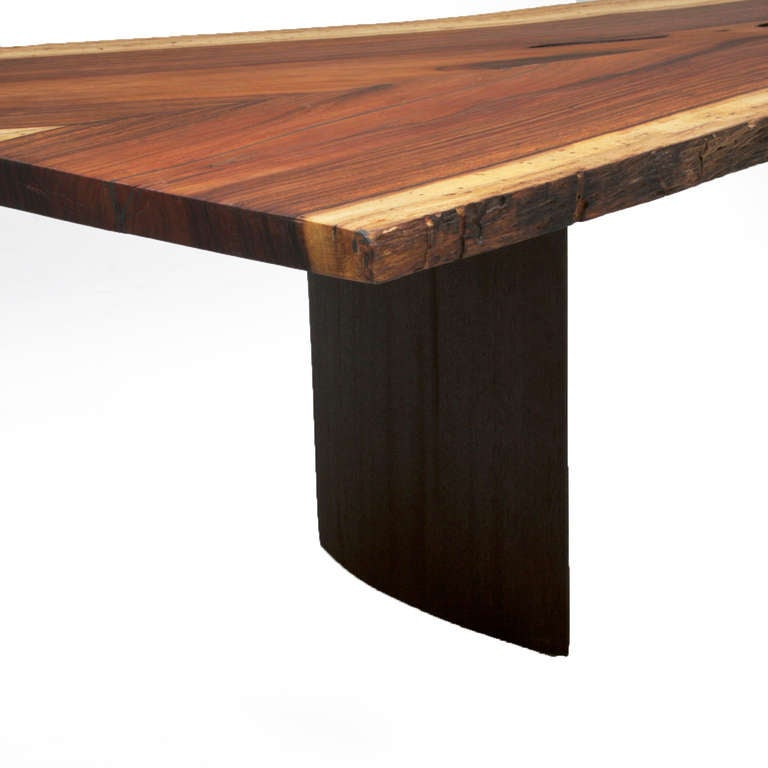 Solid Brazilian Rosewood Slab Coffee Table By Thomas Hayes