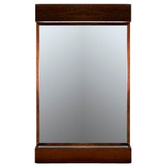 Large Stunning Illuminated Rosewood Mirror from Brazil