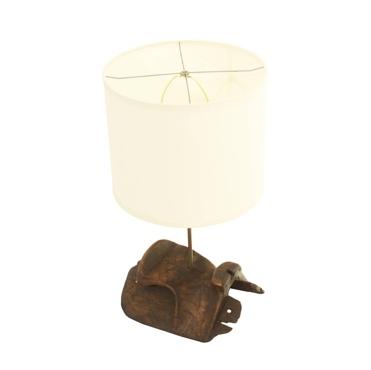 carved wood and brass saddle tree table desk lamps for sale at 1stdibs. Black Bedroom Furniture Sets. Home Design Ideas