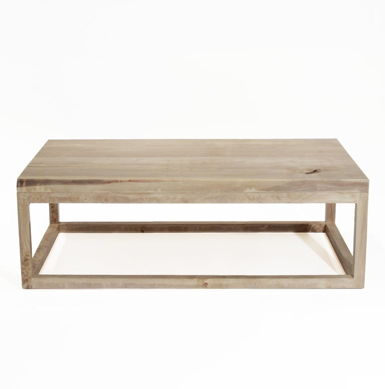 The Basic Coffee Table in bleached Walnut with live edges by Thomas Hayes  Studio 2