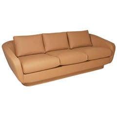 Mid-Century Norman Fox Macgregor Leather Sofa for Sam Belz of Memphis