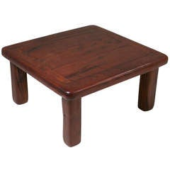 "Mid-Century Brazilian ""Ipe"" Coffee Table from Salvaged Railroad Planks"