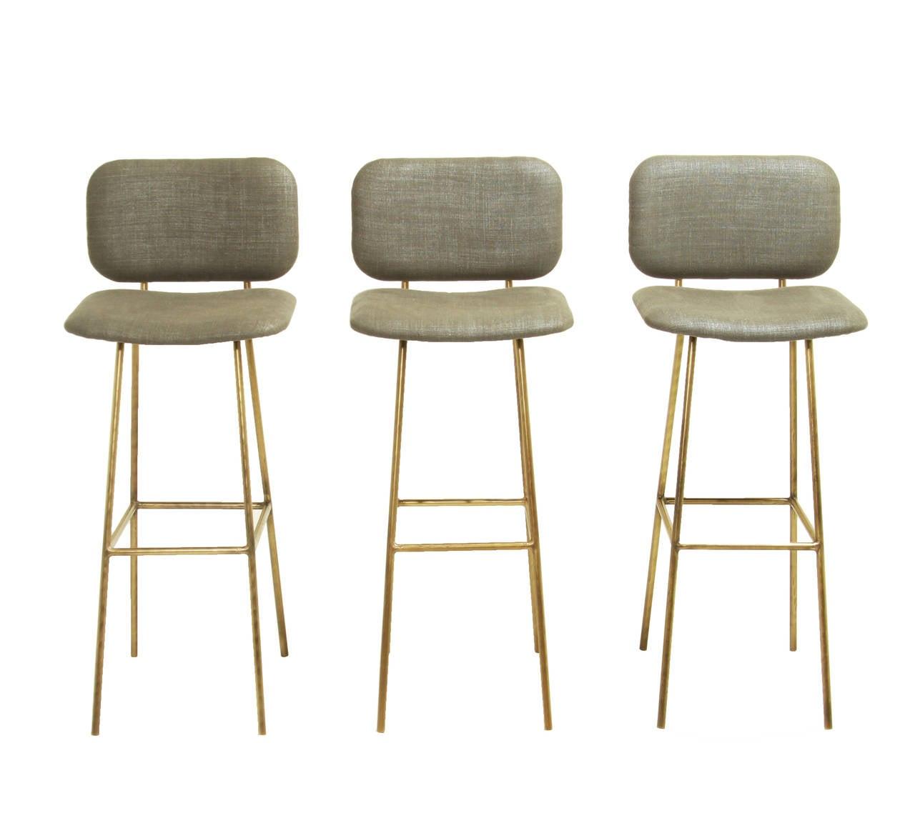 the brass petra bar stool by thomas hayes studio . the brass petra bar stool by thomas hayes studio at stdibs