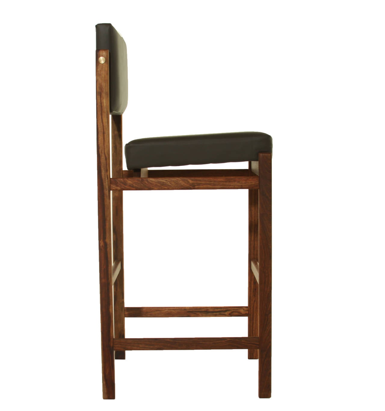 The Basic Pivot Back Bar Stool In Rosewood By Thomas Hayes