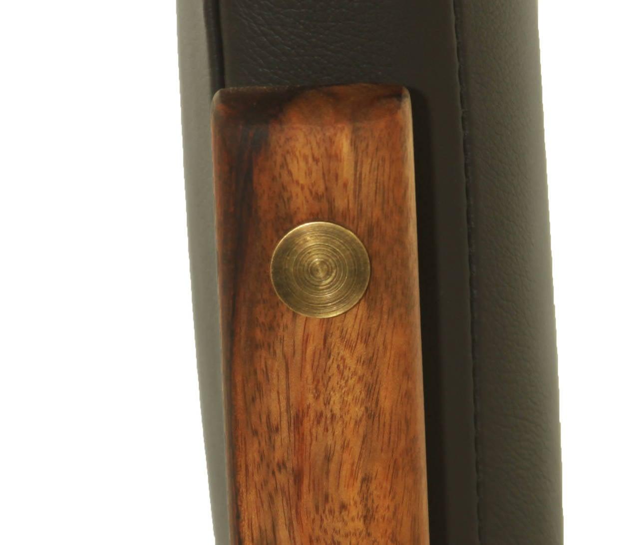 The Basic Pivot Back Bar Stool In Rosewood By Thomas Hayes