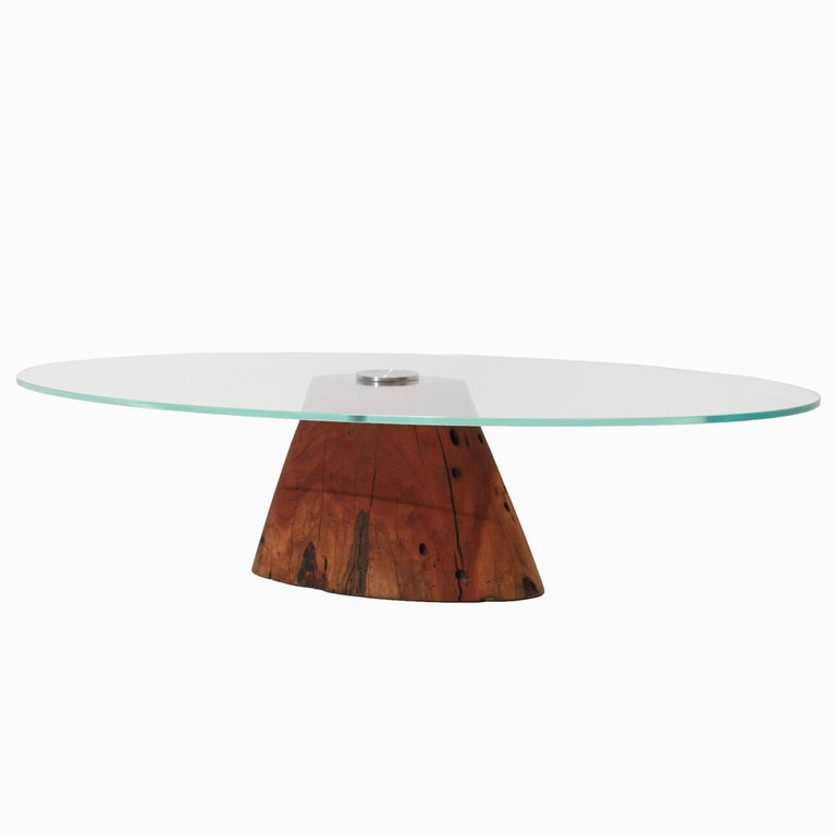 Live Edge Solid Slab Of Tamboril Coffee Table By Tunico T: Tunico T. Salvaged Jatoba Wood Coffee Table For Sale At
