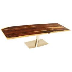 Organic Modern Brazilian Exotic Hardwood Dining Table