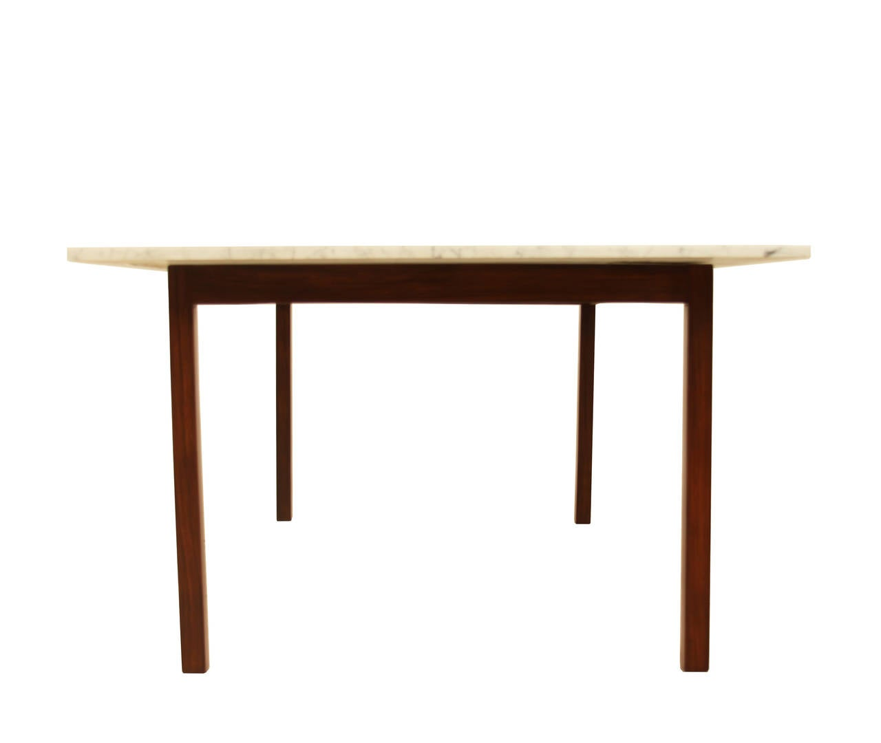 Brazilian Rosewood Dining Table With Carrara Marble Top For Sale At 1stdibs