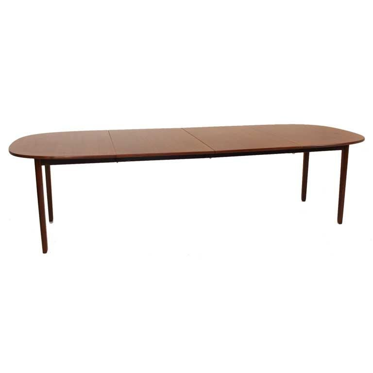 Extendable Mahogany Dining Table By Ole Wanscher At 1stdibs