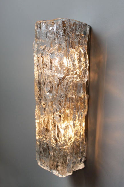 Small Vertical Hanging Rectangular Glass Wall Sconce At 1stdibs