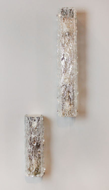 How High Do I Hang Wall Sconces : Small Vertical Hanging Rectangular Glass Wall Sconce at 1stdibs