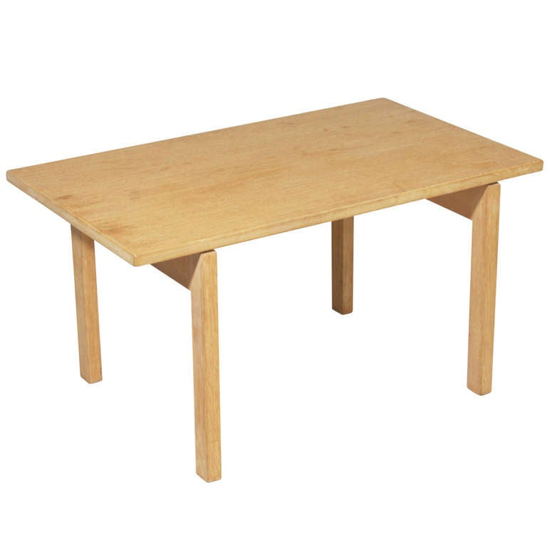 Oak Coffee Table By Hans Wegner For Andreas Tuck For Sale At 1stdibs