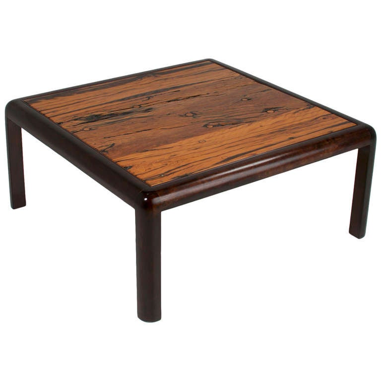 Square Brazilian Ipe Coffee Table Made From Reclaimed