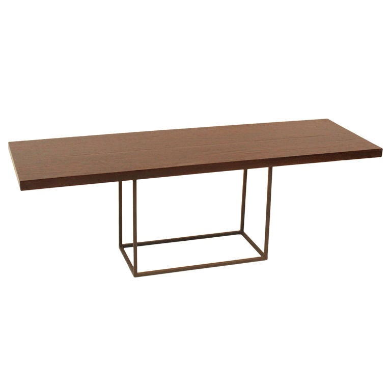 wenge and pewter finished metal coffee table at 1stdibs. Black Bedroom Furniture Sets. Home Design Ideas