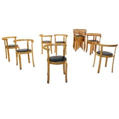 45 vintage Danish dining chairs by Magnus Olesen
