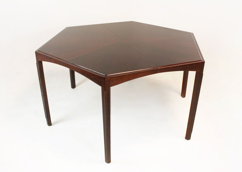 Large walnut dining table with three leaves at 1stdibs for 3 leaf dining room tables