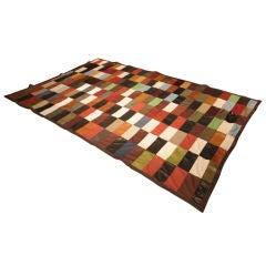 Custom Thomas Hayes Studio patchwork leather rug