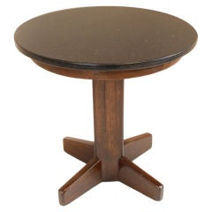 Solid exotic hardwood Brazilian side table with Granite top