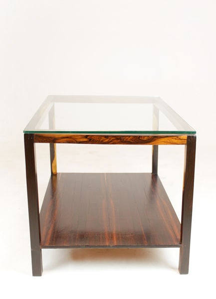 Brazilian Coffee Table With Beautiful White Saps And Glass Top At 1stdibs