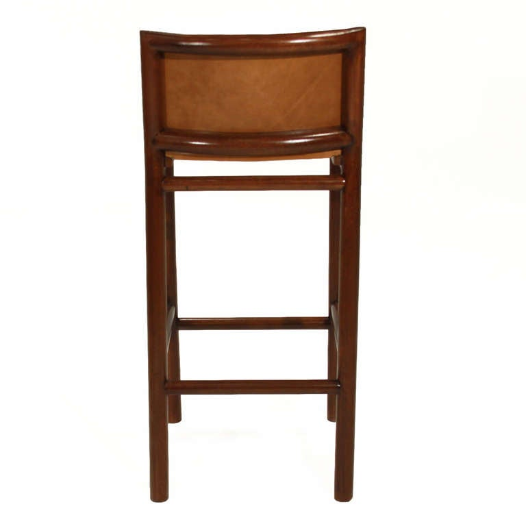 Pair of 2 Solid Bar Stools with Burnt Caramel Leather by  : Carmelbarstool04l from 1stdibs.com size 768 x 768 jpeg 21kB