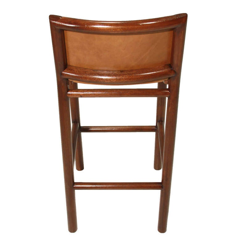 Pair of 2 Solid Bar Stools with Burnt Caramel Leather by  : Carmelbarstool06l from 1stdibs.com size 768 x 768 jpeg 31kB