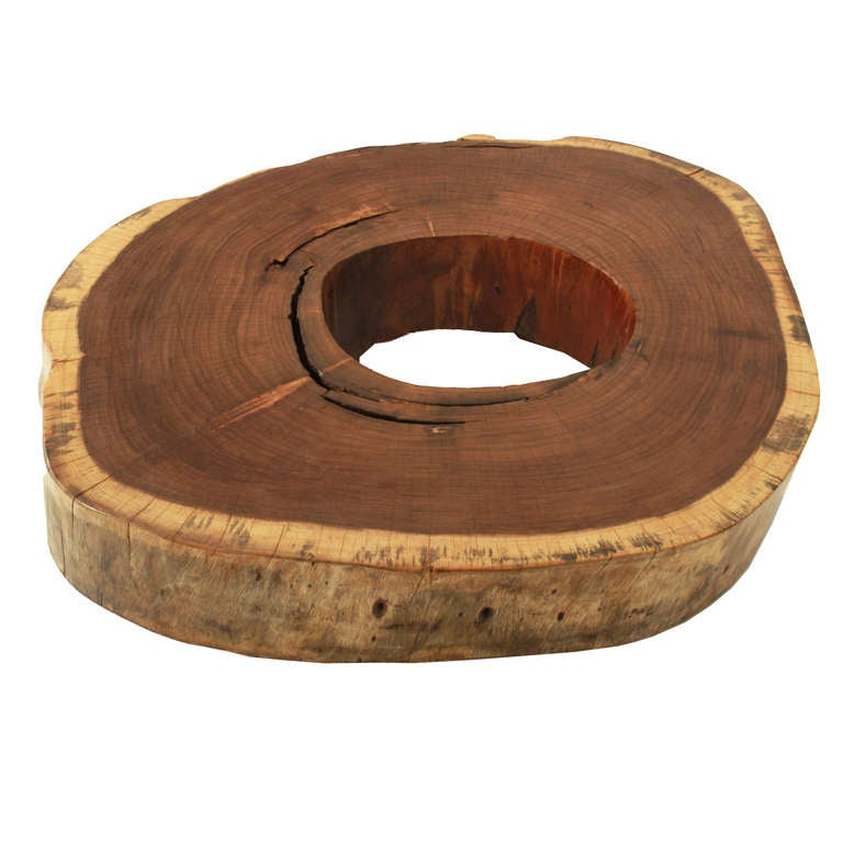 Reclaimed Tamboril Old Growth Tree Round Coffee Table On Casters By Tunico T For Sale At 1stdibs