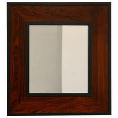 Brazilian Rosewood Mirror By Thomas Hayes Studio