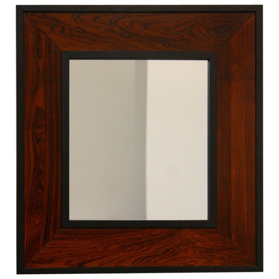 Brazilian Rosewood Mirror By Thomas Hayes Studio
