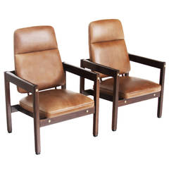 """Pair of High Backed """"Kiko"""" Armchairs by Sergio Rodrigues"""