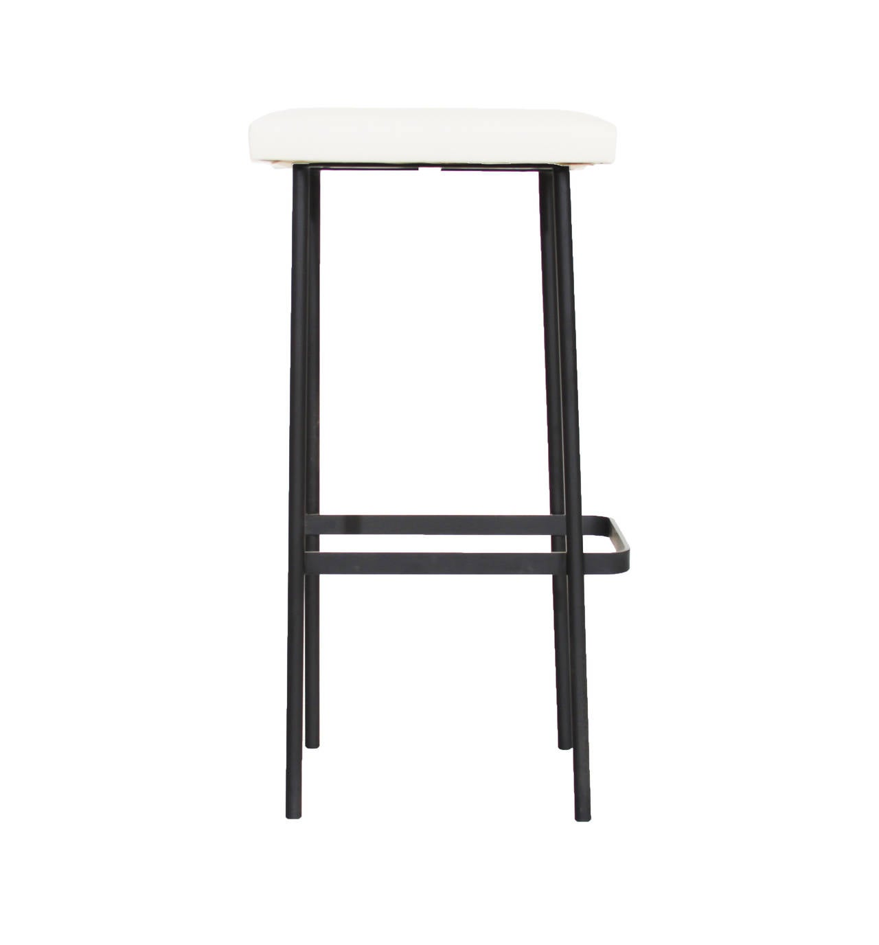 The Steel And Leather Bundinha Bar Stool By Thomas Hayes