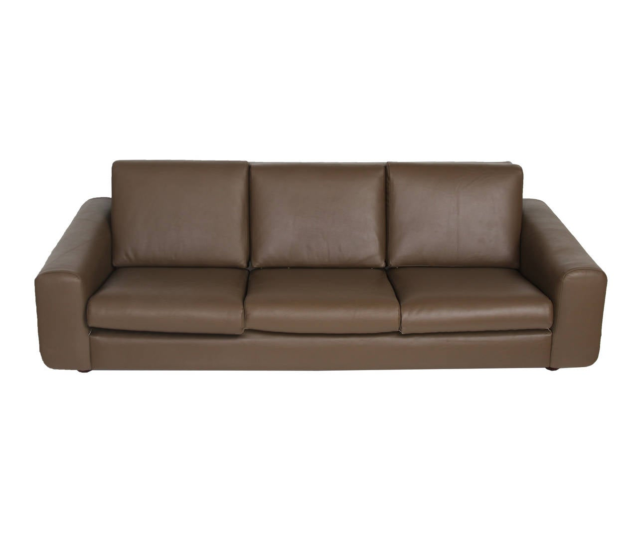 Tendo Brasileira Rosewood and Leather Sofa 2
