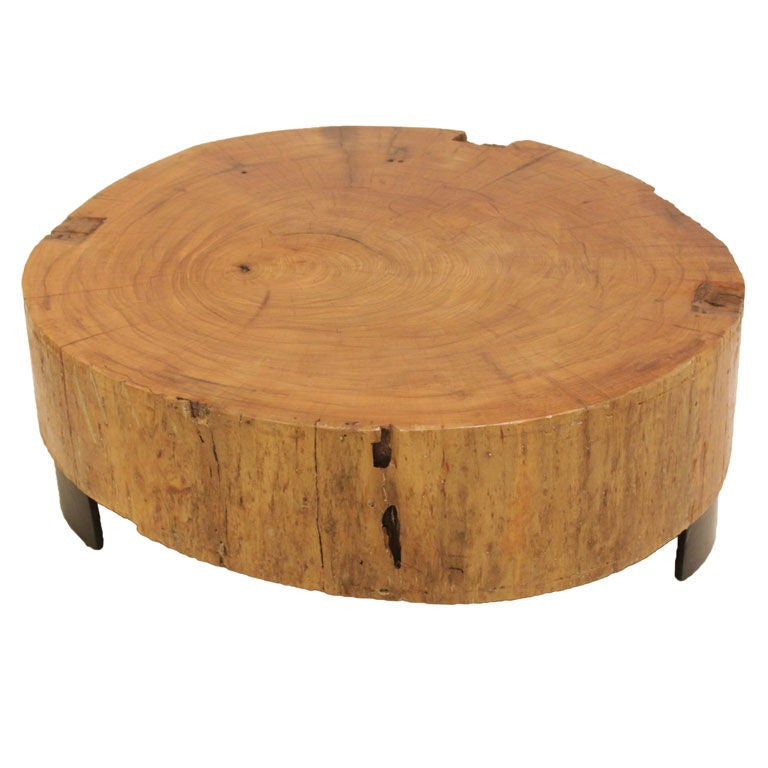 Salvaged solid peroba wood block coffee table at 1stdibs for Small block coffee table