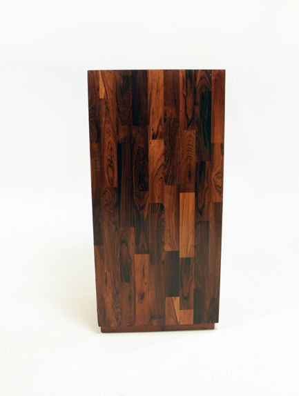 Rare Pair Of Laminated Rosewood File Cabinets By Jorge