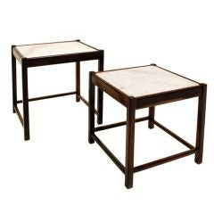 Set of Brazilian Rosewood Side Tables by Sergio Rodrigues