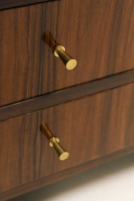 Rosewood Double Drawer Counter Top Jewelry Box For Sale at 1stdibs
